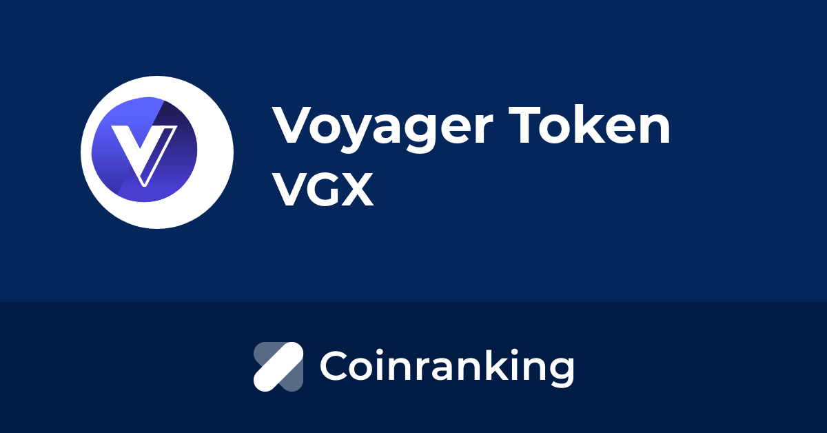 Voyager Token Vgx Price To Usd Live Value Today Coinranking