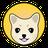 An icon of the cryptocurrency Kishu Inu (KISHU)